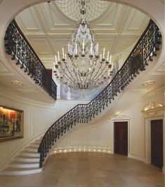 Was the staircase built around the chandalier or the chandalier made for the staircase? Hmm...