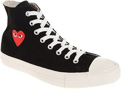Comme des Garcons Play Chuck Taylor Hi Sneakers104hello
