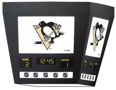 Pittsburgh Penguins Square Scoreboard Light