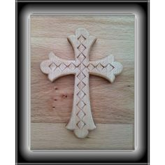 Chip carved cross