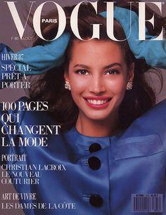 PARIS VOGUE - August 1987 COVER MODEL - Christy Turlington