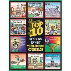Top 10 Reasons to Visit Your School Counselor Poster