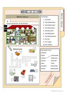 das Haus und die Möbelstücke
