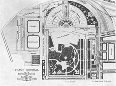 Plano de la Exposición Universal de Barcelona de 1888.