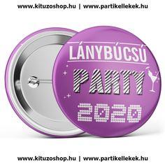 Lánybúcsú Party 2020 kitűző lila Love