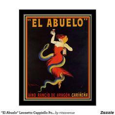 """""""El Abuelo"""" Leonetto Cappiello Poster 16x20"""