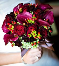 fall wedding bouquets pictures
