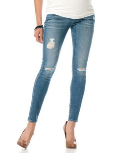 Destination Maternity AG Jeans Secret Fit Belly(r) 5 Pocket Maternity Jeans #destructeddenim
