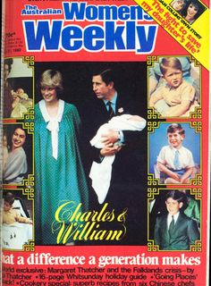 Prince William's first cover in 1982.