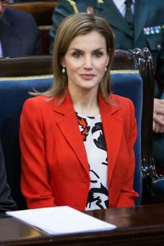 !! REAL- MY ROYALS !!: Queen Letizia in Mango - Rare Diseases World Day Event