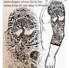 Tattoo Designer Service Create a tattoo online is part of Simple Arrow tattoos Men - tibetan tattoo, tree of life tattoo, tattoo template, create a tattoo, juno tattoo designs Yggdrasil Tattoo, Norse Tattoo, Celtic Tattoos, Viking Tattoos, Wolf Tattoos, Body Art Tattoos, Dragon Tattoos, Warrior Tattoos, 3d Tattoos