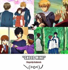 anime, ao haru ride, and kaichou wa maid-sama, tonari no kaibutsu-kun, ookami shoujo to kuro ouji Anime Shojo, Manga Anime, Manga Couples, Cute Anime Couples, Manga Love, I Love Anime, Futaba Y Kou, My Little Monster, Anime Reccomendations