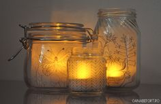 Make adorable votives Tutorial and 45 BEST Charming Lifestyle DIY & Tutorials EVER.  From MrsPollyRogers.com