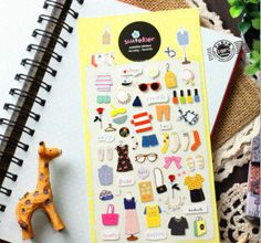 Novelty My Wardrobe 3D Stationery Diary Stickers Decorative Mobile Stickers Scrapbooking DIY PVC Stickers Escolar Papelaria