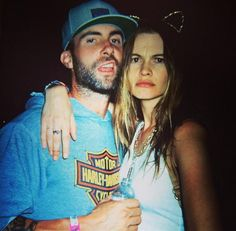 """Adam Levine Behati Prinsloo Coachella 2014. """"Met this girl at coachella. I think she's into me,"""" Adam Levine captioned this pic with wife Behati Prinsloo in October 2014. And how right he was! - Behati Prinsloo and Adam Levine's cutest Instagrams"""
