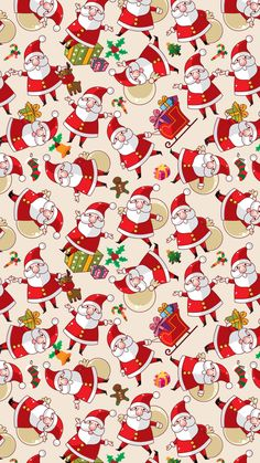 Santa Claus Pattern Texture Background iPhone 6 wallpaper