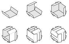 """I have made many things using this cube construction technique. You can use six more cards and create """"faces"""" for the cube to create a smooth surface."""