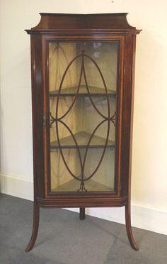 A Late Victorian/ Edwardian Mahogany Corner Display Cabinet ...