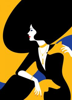 French-born, London-based illustrator Malika Favre's work is often described as being part pop art and part optical art –. French-born, London-based illustrator Malika Favre's work is often described as being part pop art and part optical art –. Art Deco Illustration, Graphic Illustration, Illustration Styles, Woman Illustration, Design Illustrations, Portrait Illustration, Illustrations Posters, Art Deco Posters, Vintage Posters