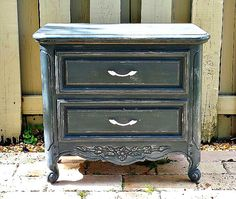 Vintage Set Nightstands French Country Nightstands Paris Apartment - French country nightstand