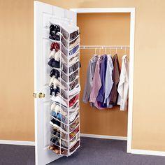 Over The Door Organizer, Hanging Shoe Organizer, Hanging Closet, Shoes Organizer, Pocket Organizer, Hanging Racks, Hanging Shoes, Diy Hanging, Hanging Shoe Storage
