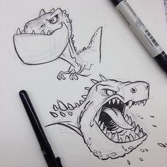#tyrannosaurusrex #dinosaur #dino #cartoon #breaksketch #brushpen