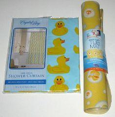 Rubber Ducks Bath Mat | Rubber Ducky Shower Curtain And Tub Mat Set Yellow  Duck |
