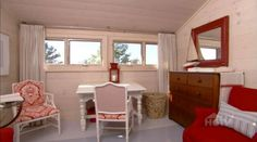 Red and White Master Bedroom in Sarah Richardson's Beach House