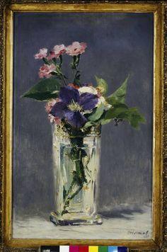 Afbeelding Edouard Manet - E.Manet, Kuckucksnelben und Clematis