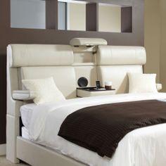 Headboard Queen Upholstered Bedroom Furniture Bonded Leather Frame Storage