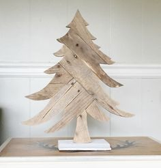 wooden christmas tree rustic holiday decorations by conversationbits on etsy httpswww