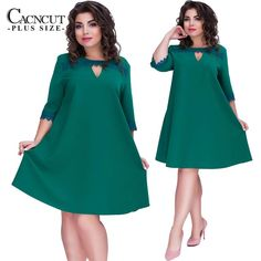 21d1ed92a52c CACNCUT Plus Size 6XL Casual Women Dress Big Size A-line Style Summer Dress  Female 2019 Fashion Large Size Green Lace Vestidos