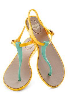 We Really Gel Sandal in Marigold, #ModCloth