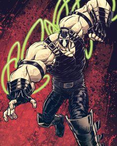 Batman Comic Art, Batman Comics, Batman Redesign, Bizarre Art, Superhero Design, Dc Comics Characters, Comic Styles, Art Programs, Bane