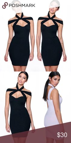 Bundle Sale  Boohoo Dress Chic dress by Boohoo.  Color is black.  Light version pictured to show the side and back.  Bundle this item along with 2 or more items from my closet and save an extra 10% off!   Feel free to comment below if you have any questions :)  Thanks Boohoo Dresses