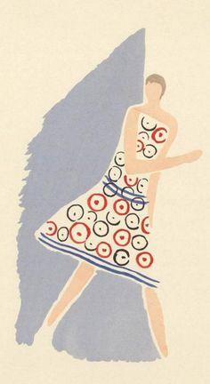 """Sonia Delaunay, 1925, """"Ses Peintures, Ses Objets, Ses Tissus Simultanés, Ses Modes"""", Librarie des Arts Decoratifs, Paris, Pochoir."""