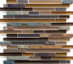 This is a great slate and glass mosaic. Good for backsplash or fireplace surround