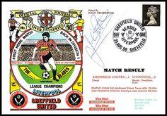 Sheffield United v Liverpool 1990 Football Signs, Sheffield United, Liverpool, The Unit, Sports