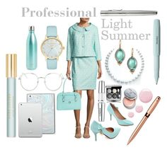 """""""Professional Looks"""" by prettyyourworld ❤ liked on Polyvore featuring Topshop, Kate Spade, Albert Nipon, Bobbi Brown Cosmetics, McKleinUSA, Rene Escobar, Chanel, Clinique, Marc Jacobs and S'well"""