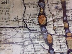 1 feb 12 [Gwen Hedley] Textile Fiber Art, Textile Artists, Stitching On Paper, Map Quilt, Natural Structures, Beautiful Sketches, Textiles Techniques, Landscape Quilts, Scrapbook Journal