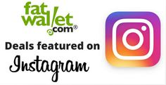 FatWallet Deals Featured on Instagram