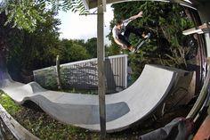 Backyard skate street