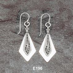 Handmade 925 silver filigree earrings.