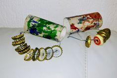 DIY Christmas Jingle Bless In het thema van de kerst Jingle Bells muziekinstrumenten knutselen met kosteloze materialen.