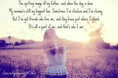 Who I Am - Jessica Andrews - frame this lyrics for girls room.