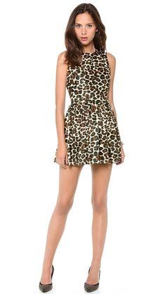 L'AMERICA Leopard Skater Dress - $128