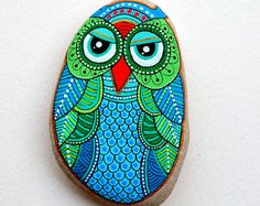RESERVED**** Hand Painted Stone Owl
