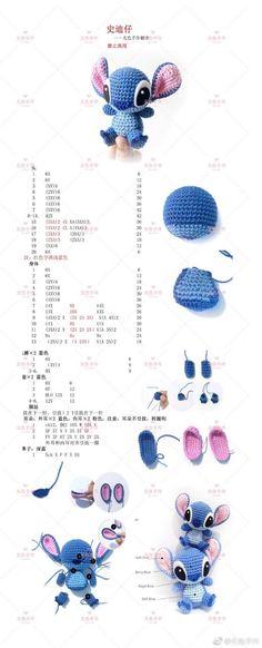 Para las amantes de Stich ♥ - #amantes #de #kawaii #las #para #Stich Kawaii Crochet, Crochet Disney, Crochet Art, Cute Crochet, Crochet Crafts, Crochet Projects, Scarf Crochet, Crochet Ideas, Crochet Blankets