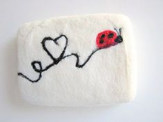 Felted Soap Ladybug Ladybird Needle Felt Soap with by IguanaFindIt