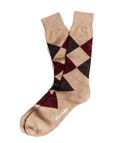 Argyle Crew Socks - Brooks Brothers
